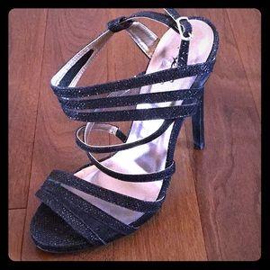NWOT Black Formal Heels w/Open Toe & Slingback